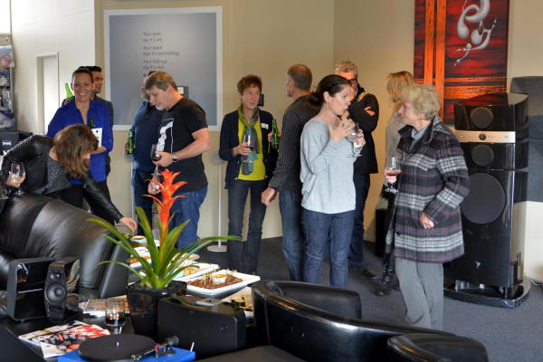 Having Fun - GLBA members mingle at The Audio Consultant
