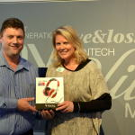 Kate receives her stunning Focal Headphones from John Moher (The Audio Consultant)