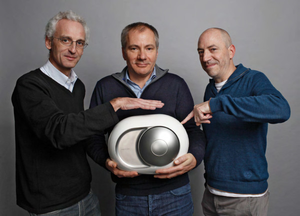 The Devialet Founders with the Phantom speaker