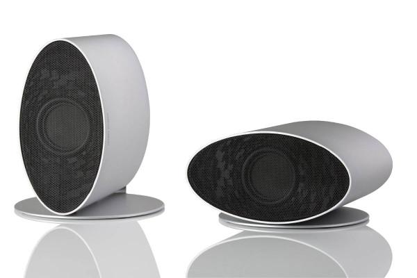 MF Merlin Speakers Silver